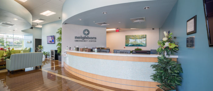 front desk at emergency room