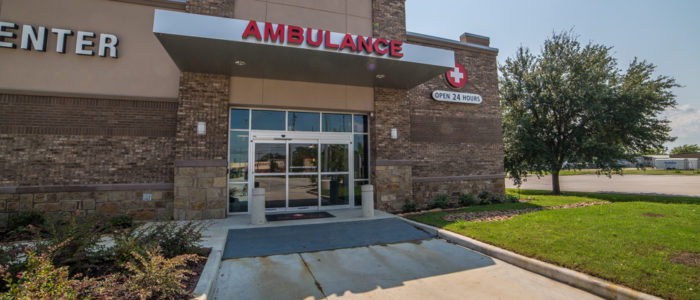 neighbors emergency center crosby ambulance entrance