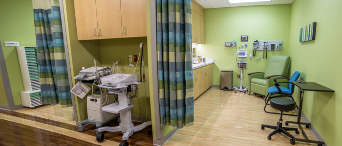 triage room equipment in emergency center