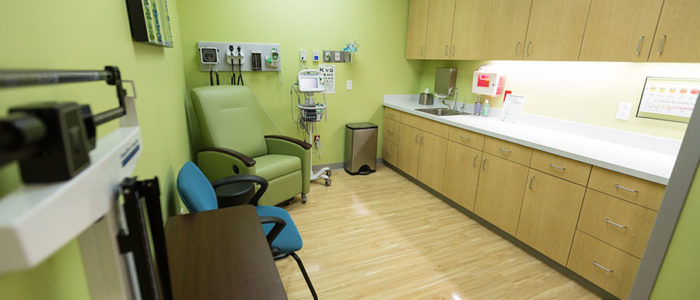 green triage room
