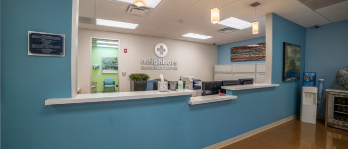 emergency center front desk in kingwood