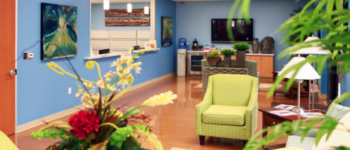 waiting area with plants at emergency center