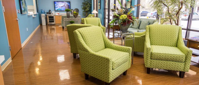 waiting area at emergency center in kingwood
