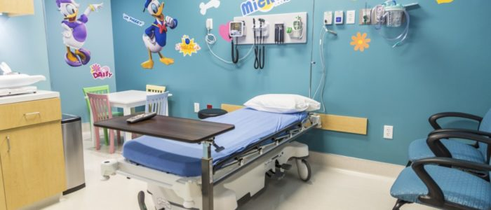 pediatric room at emergency center