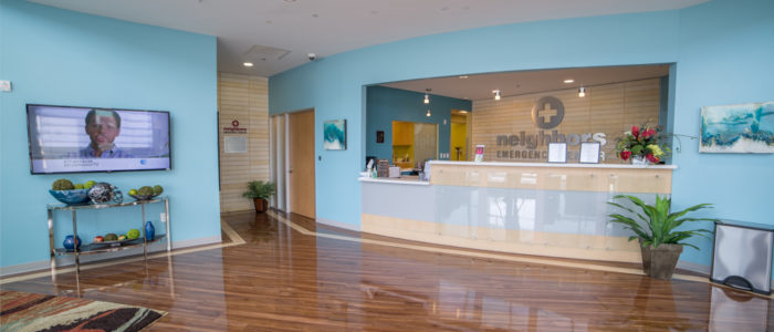 emergency center front desk area