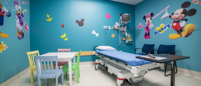 Pediatric room at Neighbors Emergency Center left angle