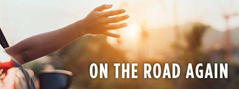 ON THE ROAD AGAIN - hand sticking out of car window